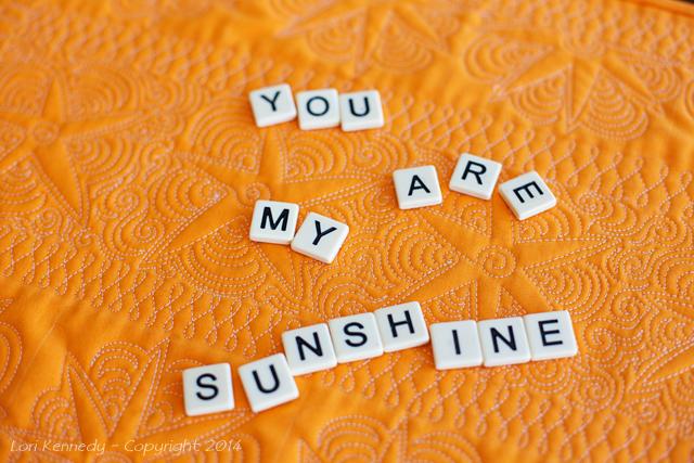 FMQ, Sunshine, Quilt
