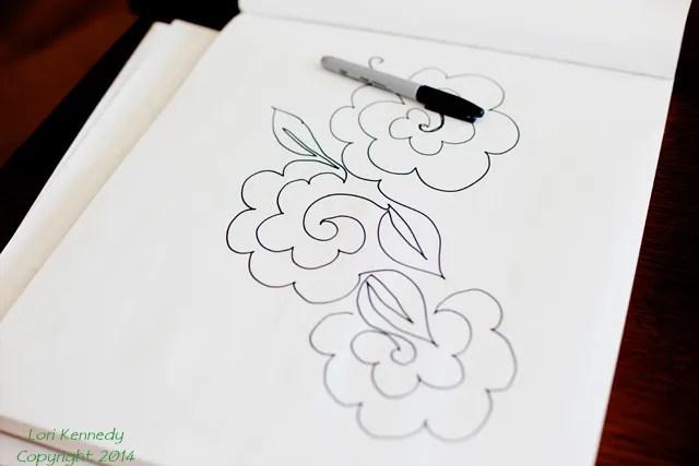 Sketchbook, Doodle, Free Motion Quilting