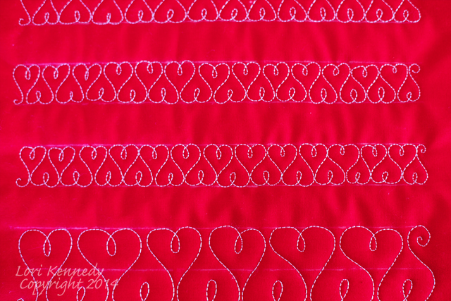 The Extra-Sweet Heart Border Free Motion Quilting Tutorial