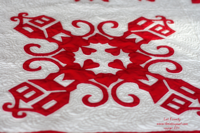 Red and White Wedding Quilt