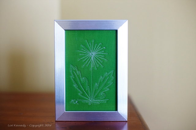Framed Free Motion Art Quilt