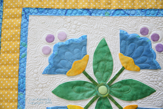 Applique, Free Motion Quilting