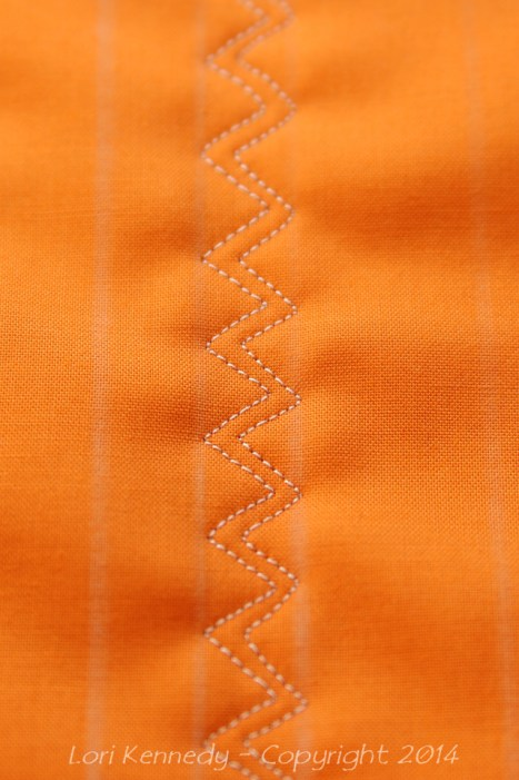 Free Motion Quilting, ZigZag
