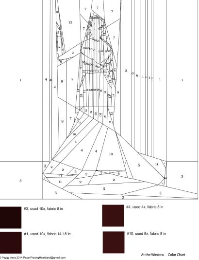 Bride Silhouette, Paper Piecing Pattern