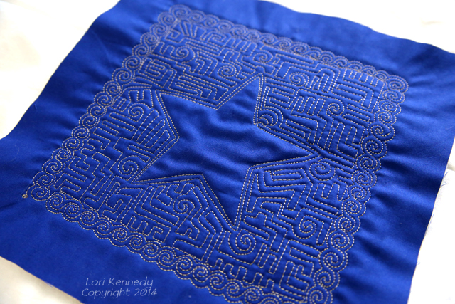 Free Motion Quilted Anchor