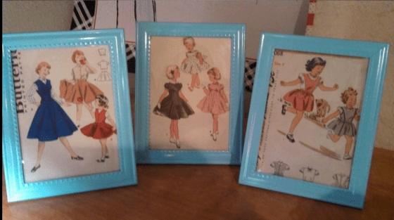Framed Sewing Patterns