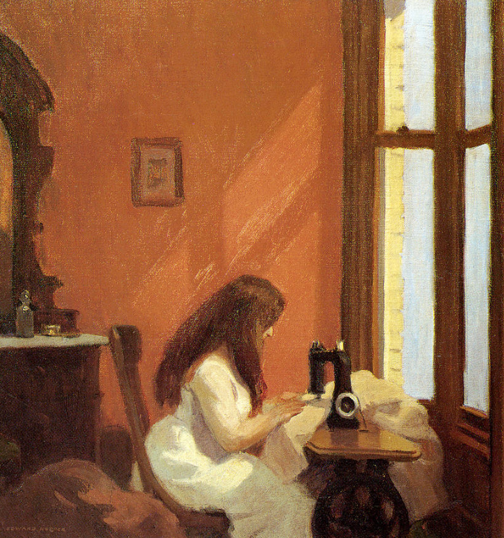 Girl at Sewing Machine, Edward Hopper