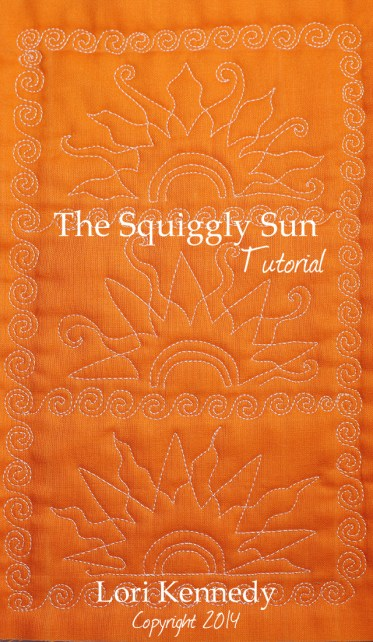 Squiggly Sun Free Motion Quilt Tutorial