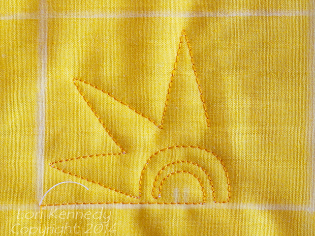The Spirograph Sun, A Free Motion Quilt tutorial