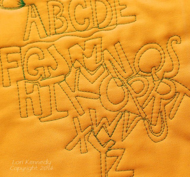 Alphabet Free Motion Quilting
