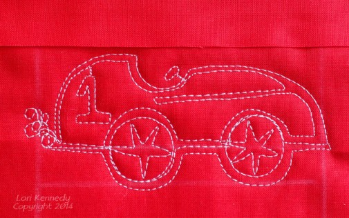 The Race Car-A Free Motion Quilt Tutorial