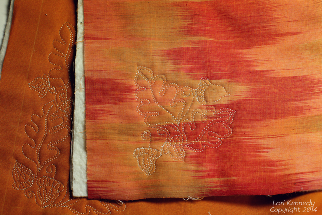Acorn and Oak Leaf Free Motion Quilting