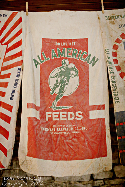 Vintage Football Feedsack