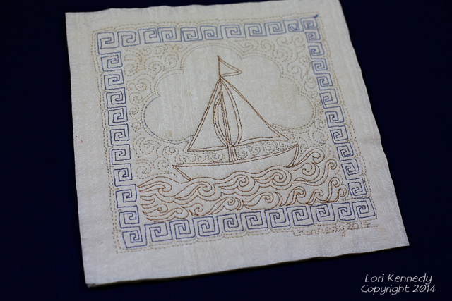 Free Motion Quilting, Sailboat