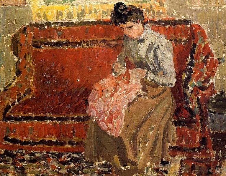 """Camille Pissarro's """"Jeanne Cousant"""""""