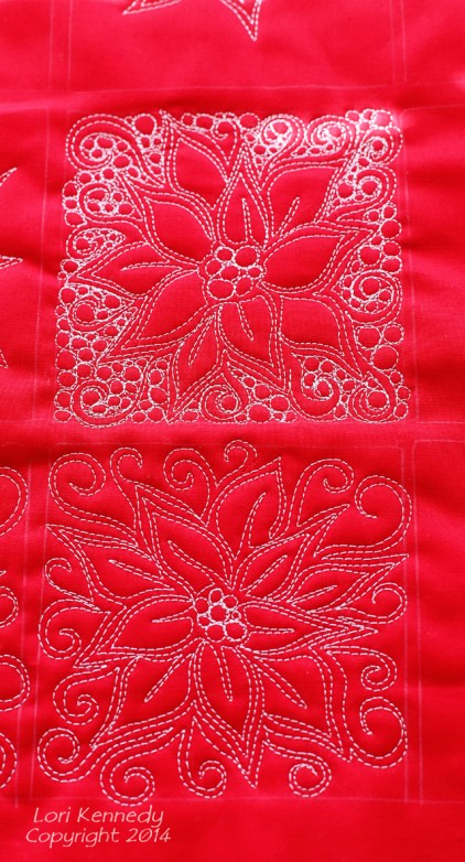 Poinsettia-Free Motion Quilting