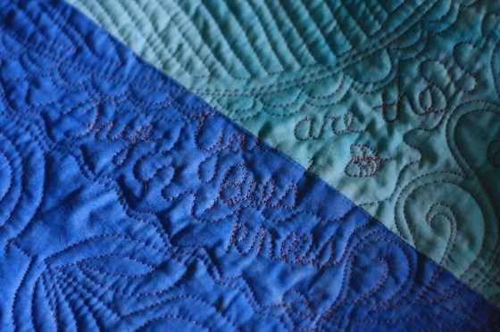 Free Motion Quilting, Handwriting