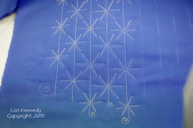 Snowman Free Motion Quilting