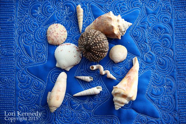 Seashells on Free Motion Quilting