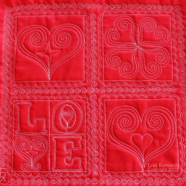 Free Motion Quilting, Love, Hearts