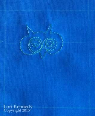 Free Motion Quilting, Owl