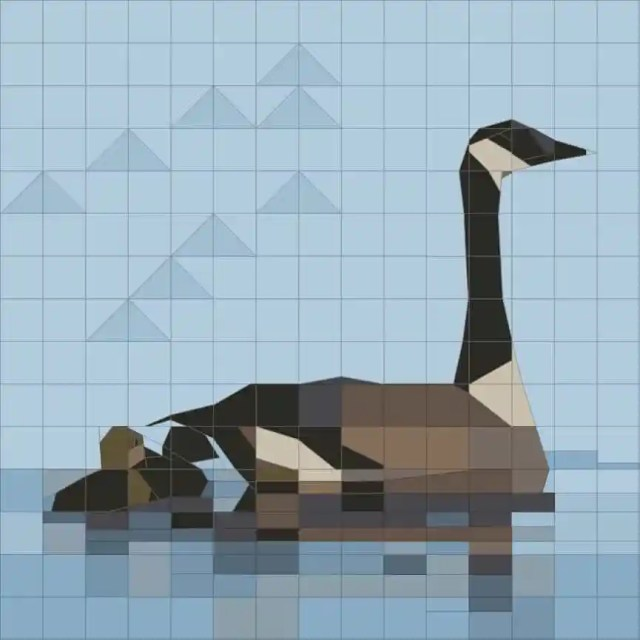 Goose and Gosling, Paper Pieced Pattern, Peggy Aare