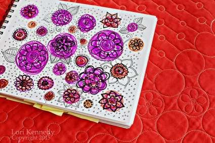 Doodles, Quilts, Flowers