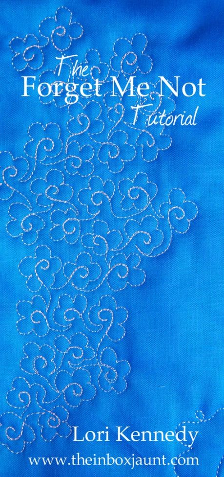 Forget-me-Not motif, machine quilting