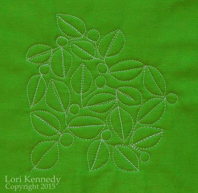 The Modern Leaf, Free Motion Quilting