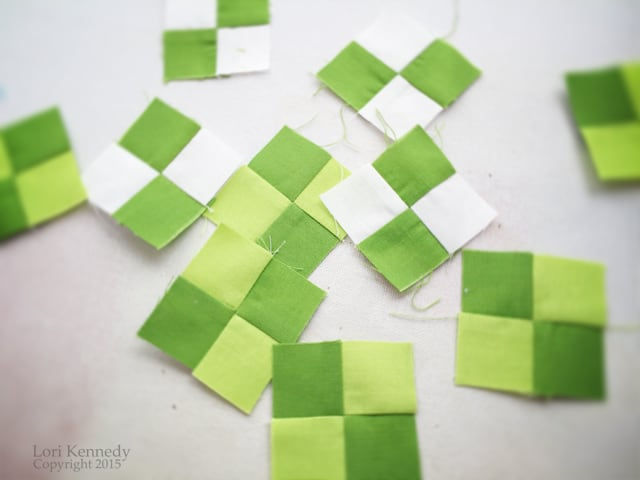 Green Quilt Squares, LKennedy
