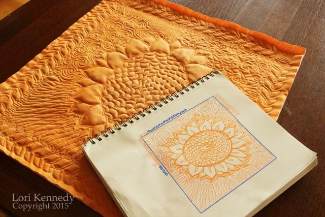 Sunflower Quilt, FMQ
