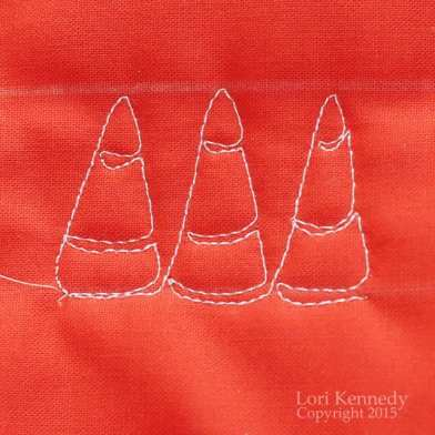 Candy Corn, Free Motion Quilting, LKennedy