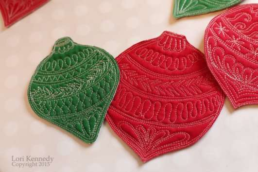 Christmas Coasters, FMQ, Kennedy