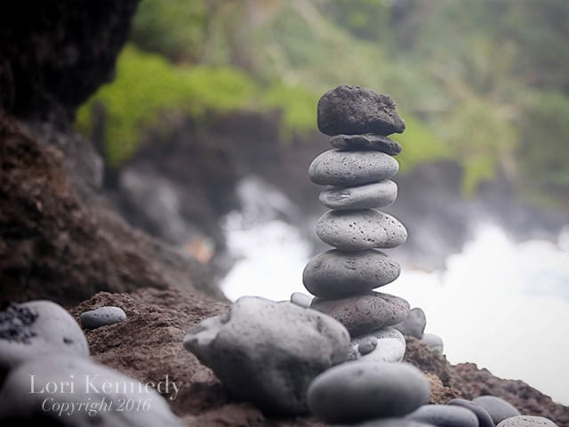 Hawaii, Black Stones, Lori Kennedy