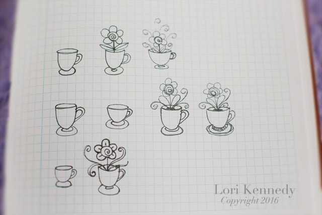 How to Draw a Teacup, Doodles, Lori Kennedy