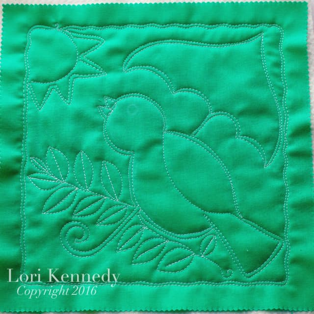 Bird, Machine Quilting, Lori Kennedy
