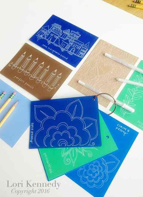 Doodle Cards, Lori Kennedy, Free Motion Quilting