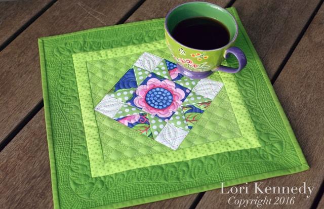 Tea Cup Quilt, Machine Quilting, Lori Kennedy
