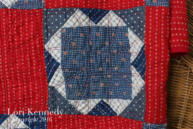 vintage quilt, machine quilting, Lori Kennedy