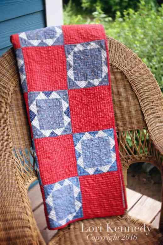 vintage quilt, machine quilting, Lori Kennedy