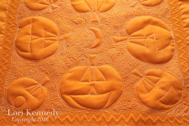 How to Machine Quilt a Jack-o-Lantern Pattern