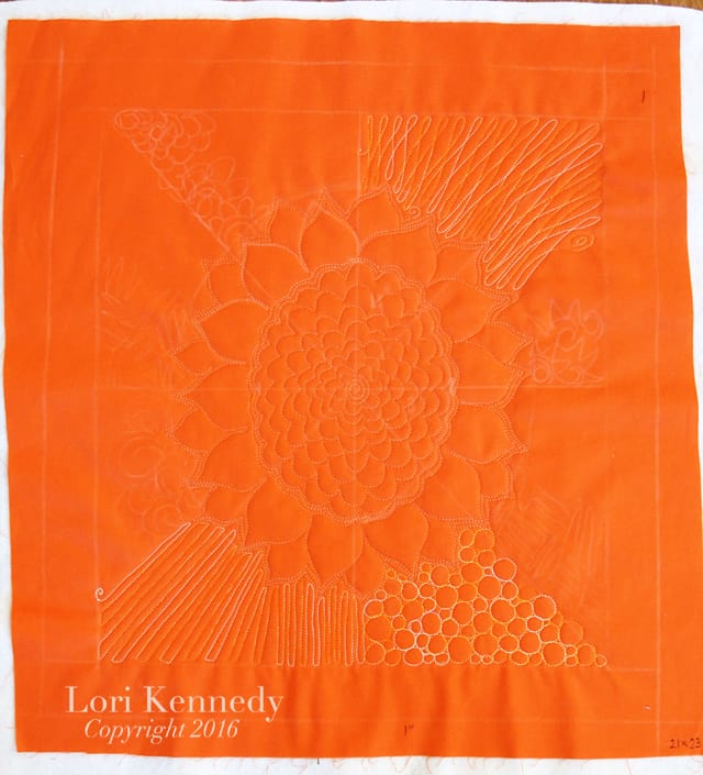 Sunflower FMQ Sampler, Lori Kennedy