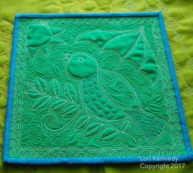 Little Bird, Free Motion Quilting, Lori Kennedy