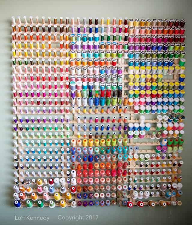 Thread Rack, Lori Kennedy Quilts