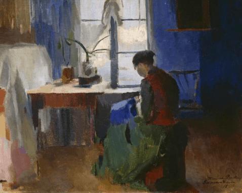 Seamstresses in Fine Art, Harriet Backer