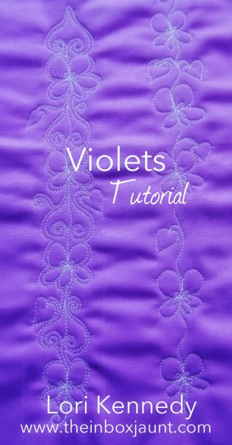 Violets, Machine Quilting, Lori Kennedy