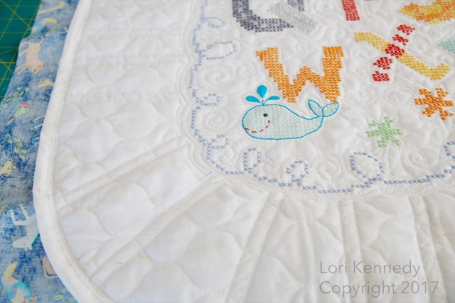 Cross Stitch Baby Quilt