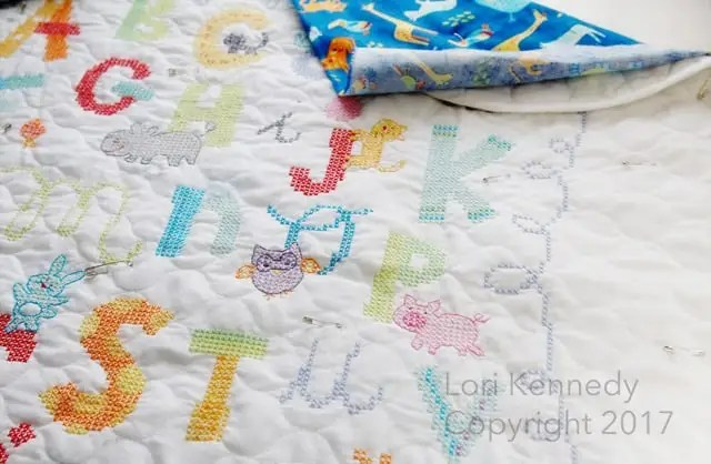 Cross Stitch Baby Quilt