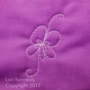 Lori Kennedy, Machine Quilting, Violets