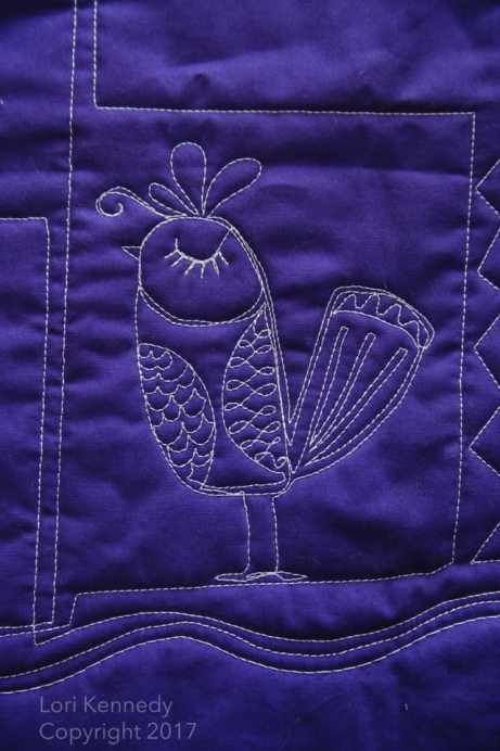 Little Bird machine quilting